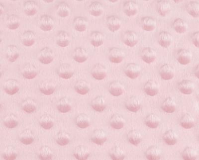 Tissu Minky à Pois Rose Clair