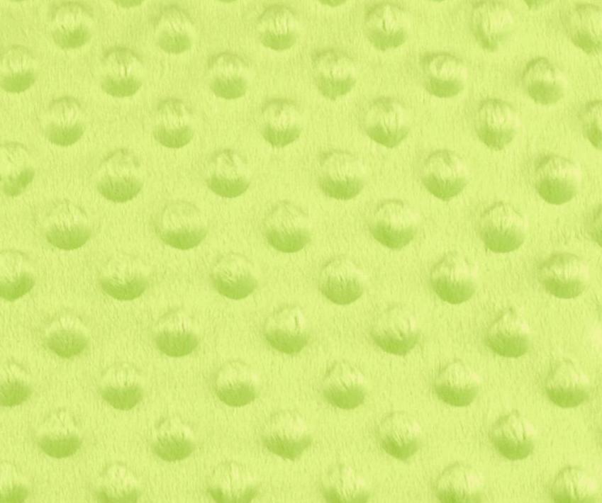 Tissu minky a pois vert anis