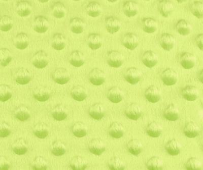 Tissu Minky à Pois Vert Anis