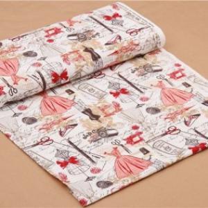 Tissu mode rouge paris c2329 4