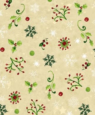 Tissu Patchwork Moda Noël Crème