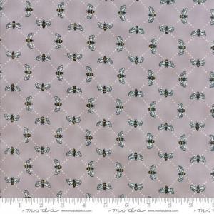 Tissu patch abeilles sur fond gris 1
