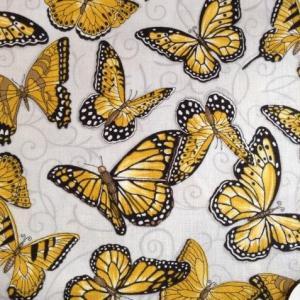 Tissu patch papillon sur fond gris 4