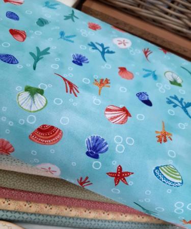 Tissu patchwork clothworks sanibel aqua y3206 34