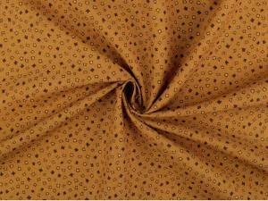 Tissu patchwork moutarde 1