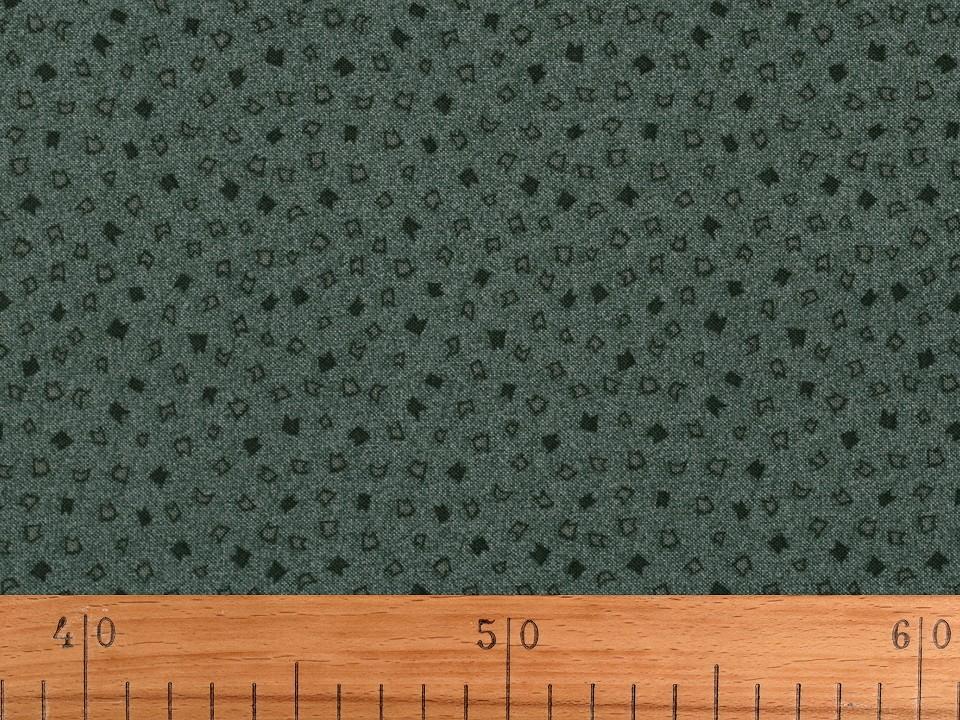 Tissu patchwork vert bouteille 3