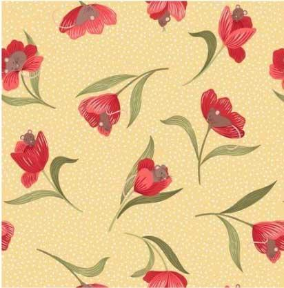 Tissu tulip fields 55