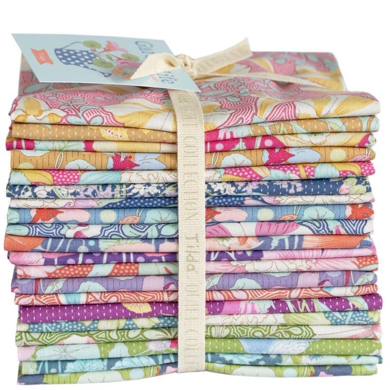 Tissus patchwork 20 fats quarter tilda gardenlife intera 50x55 cm 300100