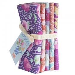 Tissus patchwork 5 fats quarter tilda gardenlife violet 50x55 cm 300097