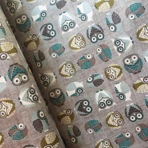 Tissus patchwork stof chouettes grises 4500 834