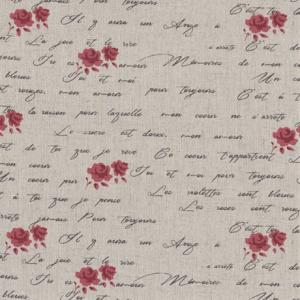 Tissus patchwork stof lin shabby chic fleurs st18 121