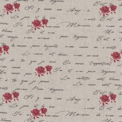 Tissus Patchwork Stof Lin Shabby Chic Fleurs ST18-121