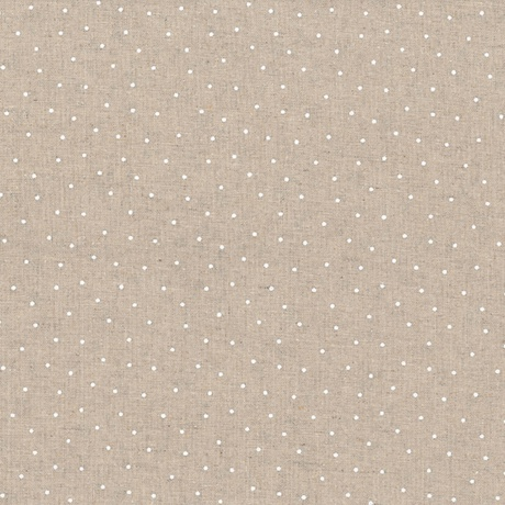 Tissus patchwork stof lin shabby chic pois blancs st18 136