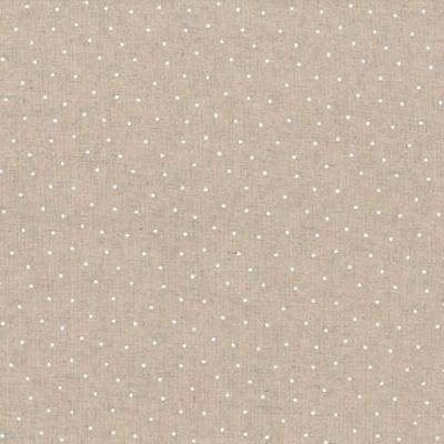 Tissus Patchwork Stof Lin Shabby Chic Points Blancs ST18-136