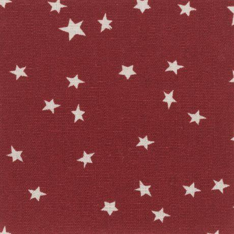 Tissus patchwork stof lin shabby rouges st18 160