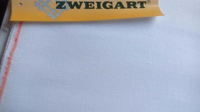 Toile à Broder Zweigart  Lin Normandie 3441 18 fils Blanc 100