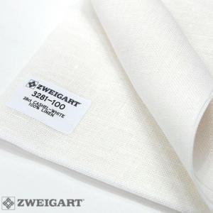 Toile à Broder Zweigart  de Lin Cashel 3281 11,2 Fils 100 Blanc