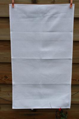 Torchon Nid d'Abeille 47x80 cm Couleur Blanc