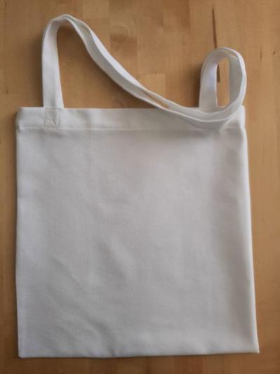 Tote bag blanc etamine 8 fi