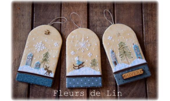 Trio d etiquettes d hiver 265 fleurs de lin 1