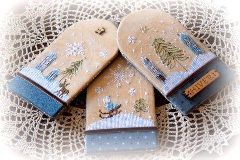 Trio d etiquettes d hiver 265 fleurs de lin 2