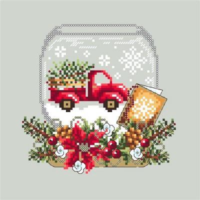 Truck Snow Globe 'Boule à neige au camion rouge ' Shannon Christine Designs