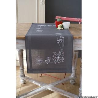 Kit Chemin de Table 40x100 cm Fleurs Blanches