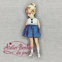 Fillette Jupe Bleue VI-03 - Atelier Bonheur du jour