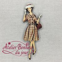 Dame Robe Marron VI-41 - Atelier Bonheur du jour