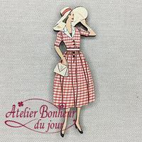 Dame vichy rouge VI-47 - Atelier Bonheur du jour