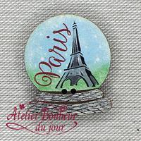 Boule à neige Tour Eiffel VO-06 - Atelier Bonheur du jour