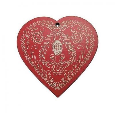 Coeur pain d'épices rouge Z13055  Au P'tit Bonheur