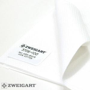 Toile à Broder Zweigart Aïda 5.4 Pts 3706 Blanc 100