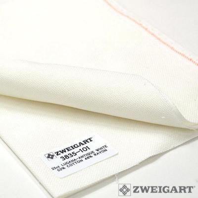 Toile à Broder Zweigart  Etamine Lugana 3835 10 fils Blanc Antique (101)