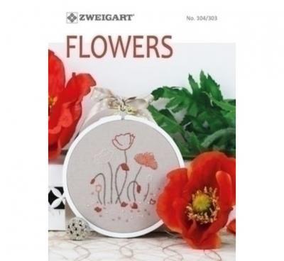 Livre N°104/303 Zweigart Flowers